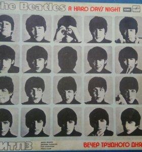 Грампластинка The Beatles вечер трудного дня