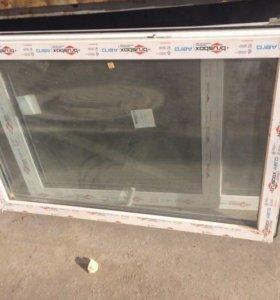 Новое пластиковое окно + балконная дверь
