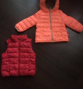 Куртка и желетка Бенеттон