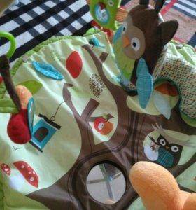Развивающий коврик и бортики в кроватку