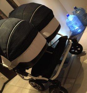 Детская коляска для двойни Slaro Indigo Duo 2 в 1