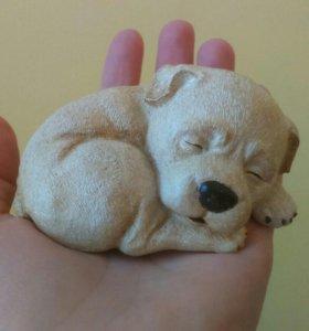 Спящий щенок ручной работы