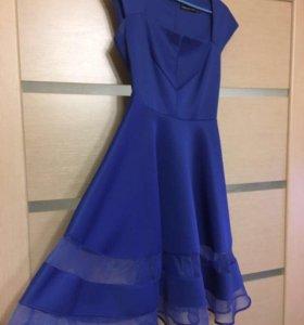 Синее вечернее платье нарядное
