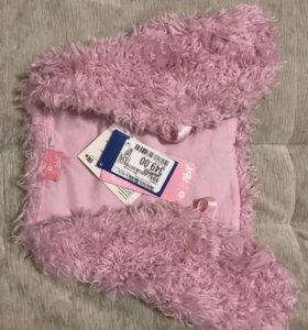 Розовый жилет для девочки 92