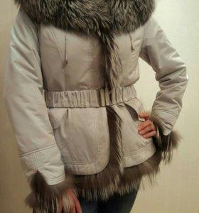 Куртка новая 44 р натуральный мех