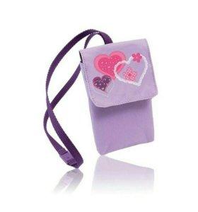 Пенал сердечки + Чехол для мобильного телефона