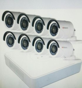 Видеонаблюдение на 8 камер hiwach