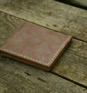 Новый кожаный мужской кошелёк