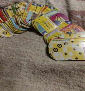 Карточки миньонов 65 штук