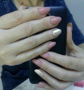 Маникюр, покрытие ногтей гель-лаком.