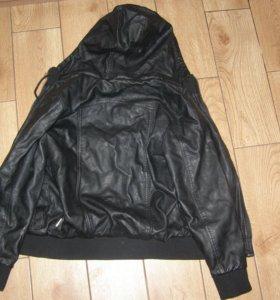 Кожаная куртка.Рост 146