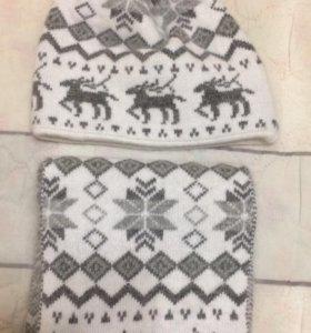 Новый зимний комплект mascotte (шапка+шарф)