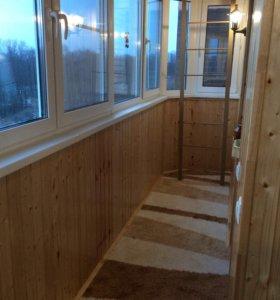 Утепление,отделка,остекление лоджий и балконов