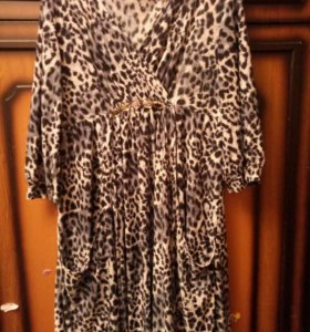 Туника-платье леопардовое