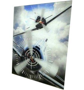 Часы воздушный бой с двумя циферблатами