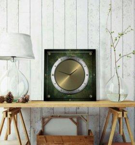 "Часы натенные ""Латунный лофт"" 35*35 см"