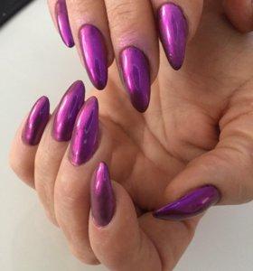 Наращивание ногтей гель лак маникюр