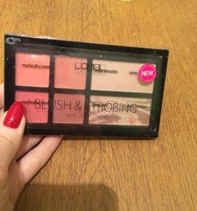 Палетка Lamel Professional Make up kit Blush,Strob