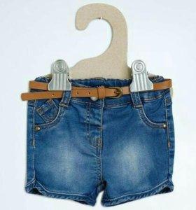 Шорты джинсовые на девочку, новые!