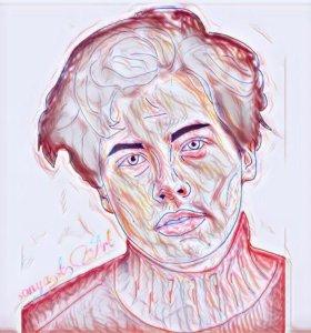 арт портрет с фотографии
