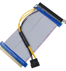 Удлинитель PCI-E x16 to PCI-E x16 15 см с питанием
