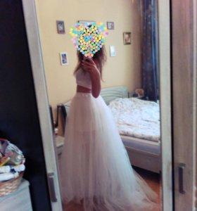Юбка свадебная фатиновая