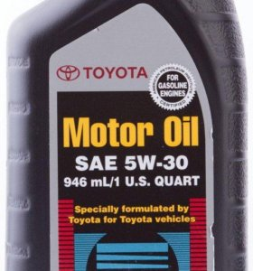 Масло моторное Toyota 5W30 Semi-Synthetic, 0,946л.