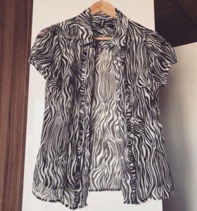 Прозрачная блуза в стиле сафари 🦓