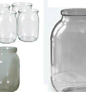 Банки стекляные 0.5 и 3х литровые