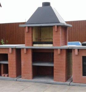 Печь Барбекю из жаропрочного бетона