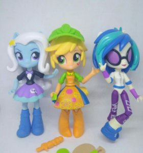 Mlp Equestria girls minis Trixie Applejack DJpon3