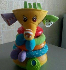 ПирамидкаМузыкальный слоник Tiny Love