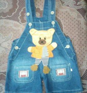 Комбинезон для мальчика джинсовый с аппликацией