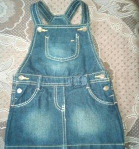 Сарафан для девочки (KIABI) джинс