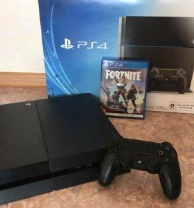 PlayStation 4 500 Gb полный комплект