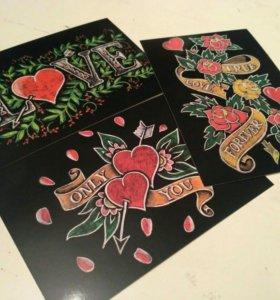 Открытки / визитки
