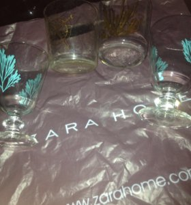Zara Home стаканы - бокалы