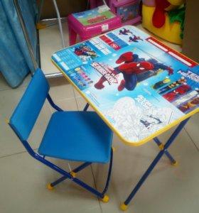 Стол+стул+пенал Человек Паук