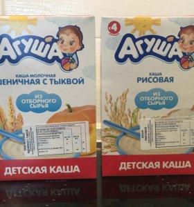 Кашка Агуша (рисовая, пшеничная)