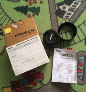 Объектив Nikkor AF-S 50mm f/1.8 G (for Nikon)