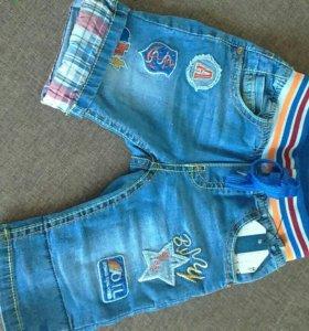Бриджи джинсовые,новые
