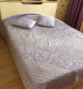Кровать с тумбой для белья с матрасом и тумба