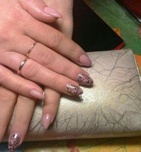 Наращивание ногтей.