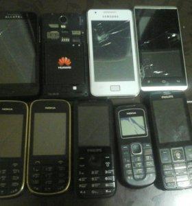 Телефоны на восстановление или запчасти