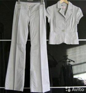 Костюм серый Zolla брюки и пиджак хлопок 44-46
