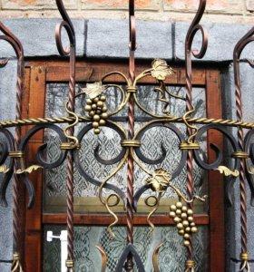 Кованые решетки оконные и каминные