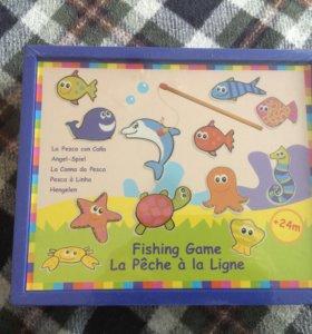 Деревянная игра рыбалка на магнитах