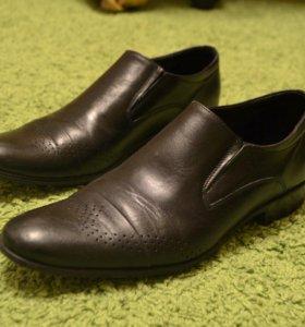 Оригинальные кожаные мужские туфли