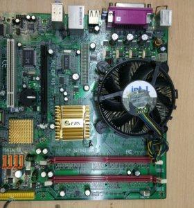 Материнка 775 с процессором