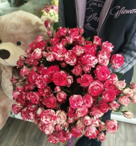 Роза кустовая 25 штук